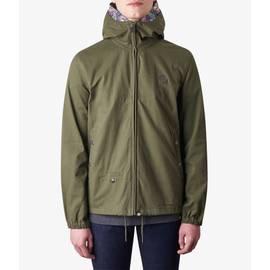 e3cae34c91d Khaki Cotton Zip Up Hooded Jacket