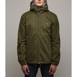 Khaki  Cotton Zip Up Hooded Jacket