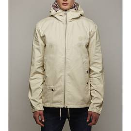 Stone  Cotton Zip Up Hooded Jacket