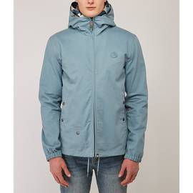 Blue  Cotton Zip Up Hooded Jacket