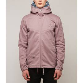 Pink  Cotton Zip Up Hooded Jacket