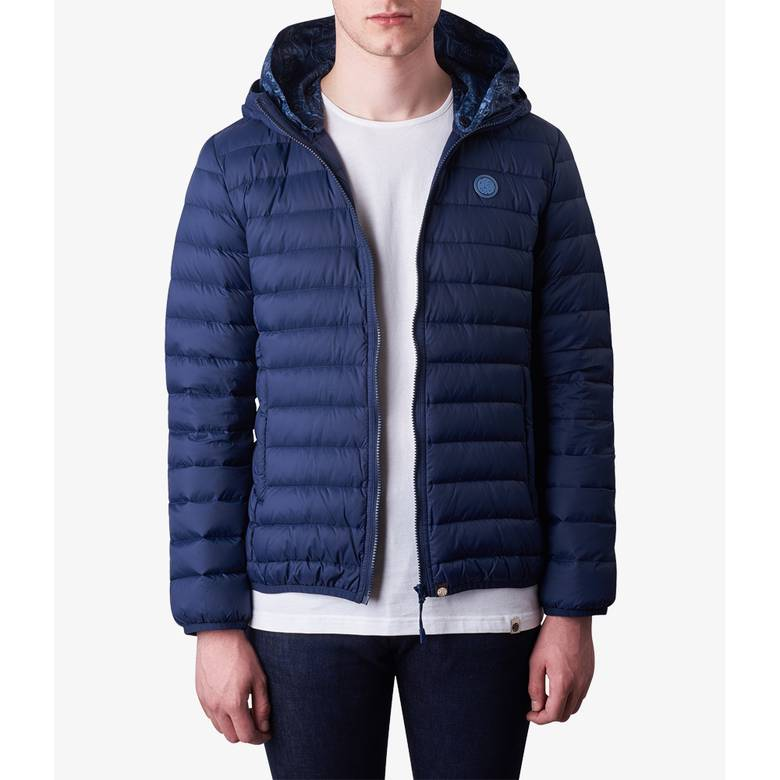 Mens Lightweight Quilted Hooded Jacket