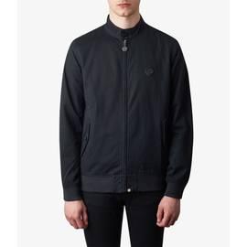 Black  Cotton Harrington Jacket