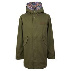 8a4674e0cfb Khaki Cotton Zip Up Hooded Parka