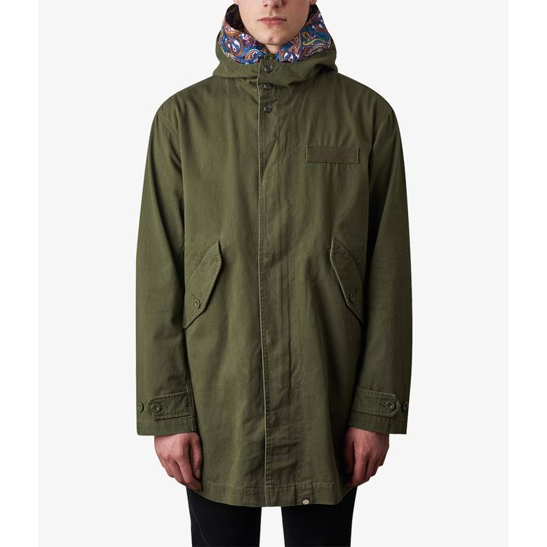 Mens Cotton Zip Up Hooded Parka