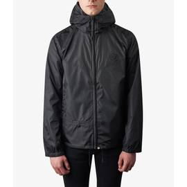Black  Lightweight Zip Up Hooded Jacket