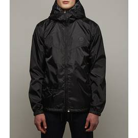 Black  Lightweight Zip Up Hooded Jacket