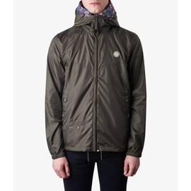 Khaki  Lightweight Zip Up Hooded Jacket