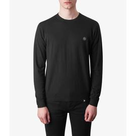 Black  Crew Neck Knitted Jumper
