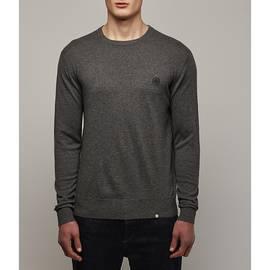 Dark Grey Marl  Crew Neck Knitted Jumper