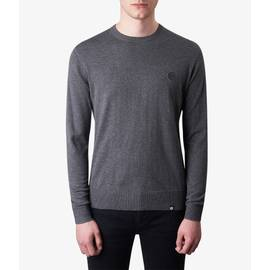 Dark Grey Marl  Crew Neck Knitted Jumper
