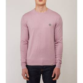 Dusty Pink  Crew Neck Knitted Jumper