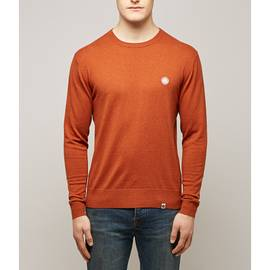 Orange  Crew Neck Knitted Jumper