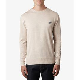 Stone  Crew Neck Knitted Jumper