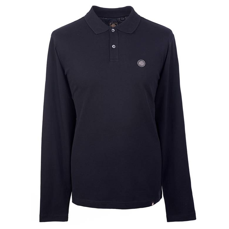 Mens Long Sleeve Pique Polo Shirt