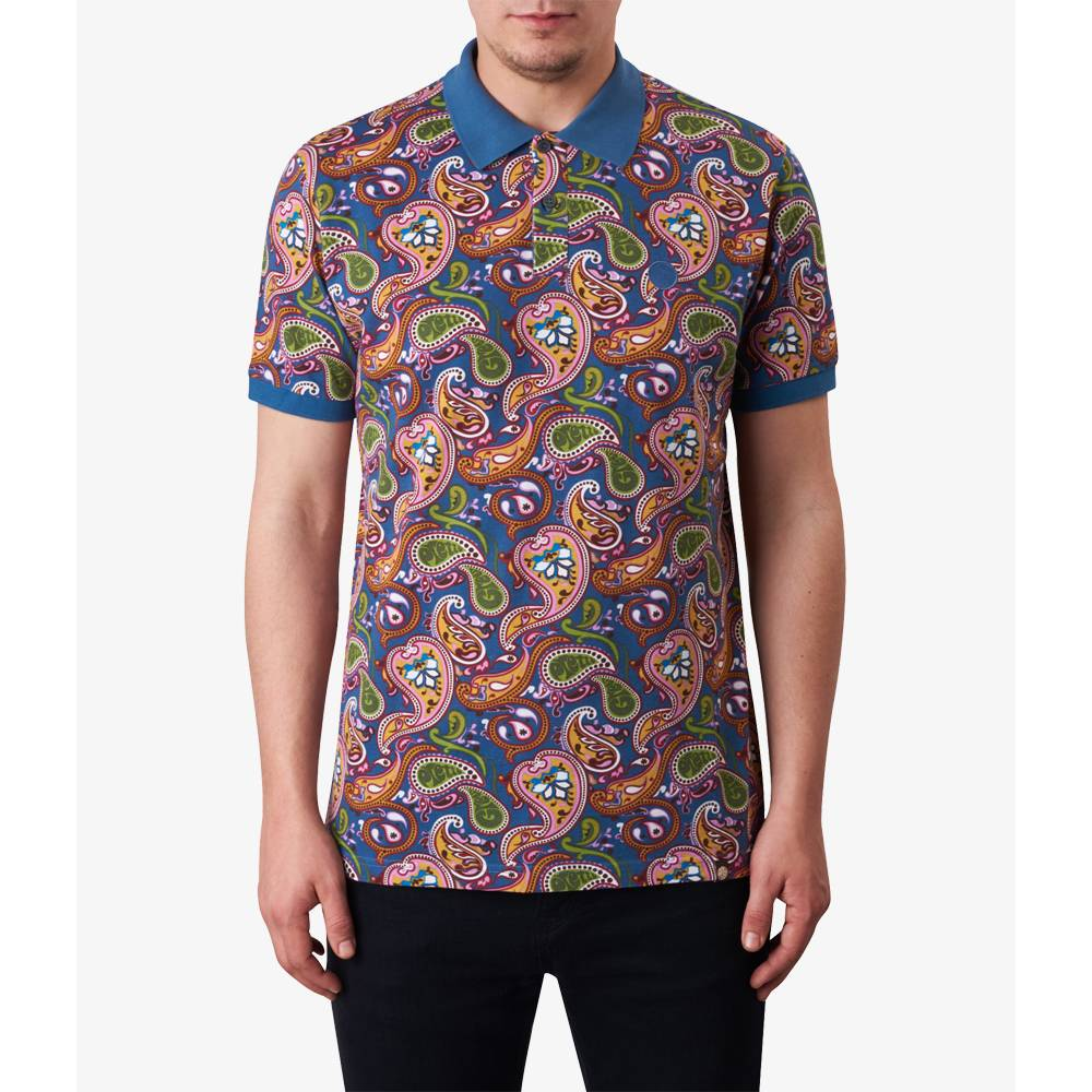 Paisley print polo shirt pretty green online shop for Polo shirts for printing