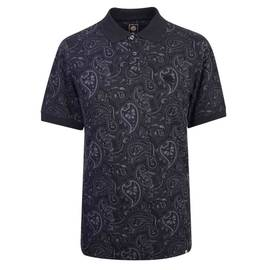 Black Paisley Print Polo Shirt 56334680bf50