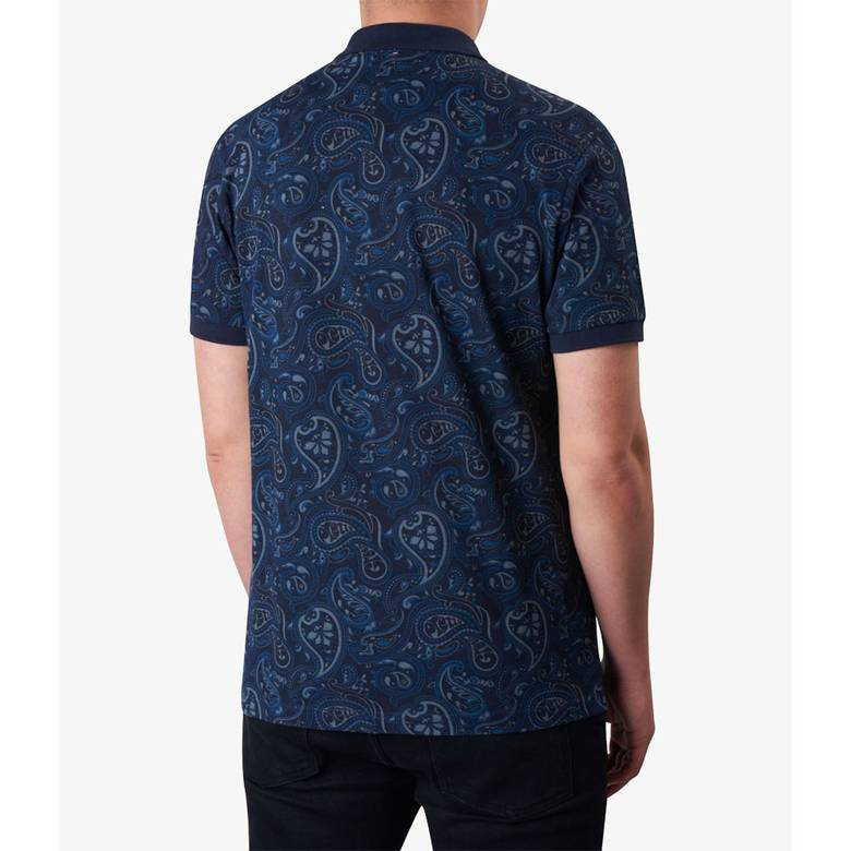 Mens Paisley Print Polo Shirt