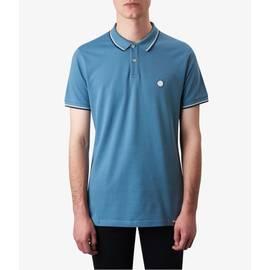 Light Blue  Tipped Pique Polo Shirt