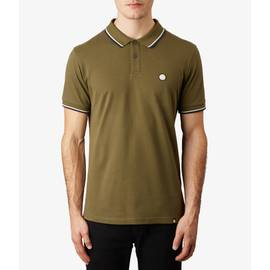 Mid Green  Tipped Pique Polo Shirt