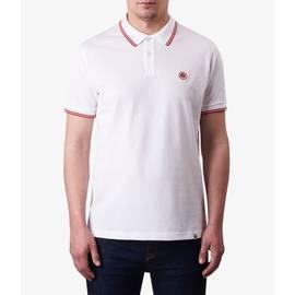 White  Tipped Pique Polo Shirt