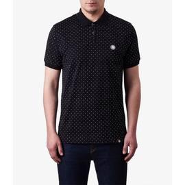 Black  Polka Dot Polo Shirt