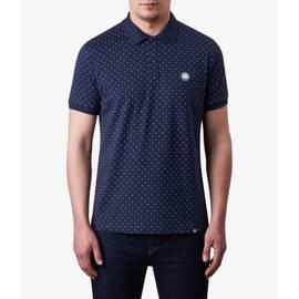 Navy  Polka Dot Polo Shirt