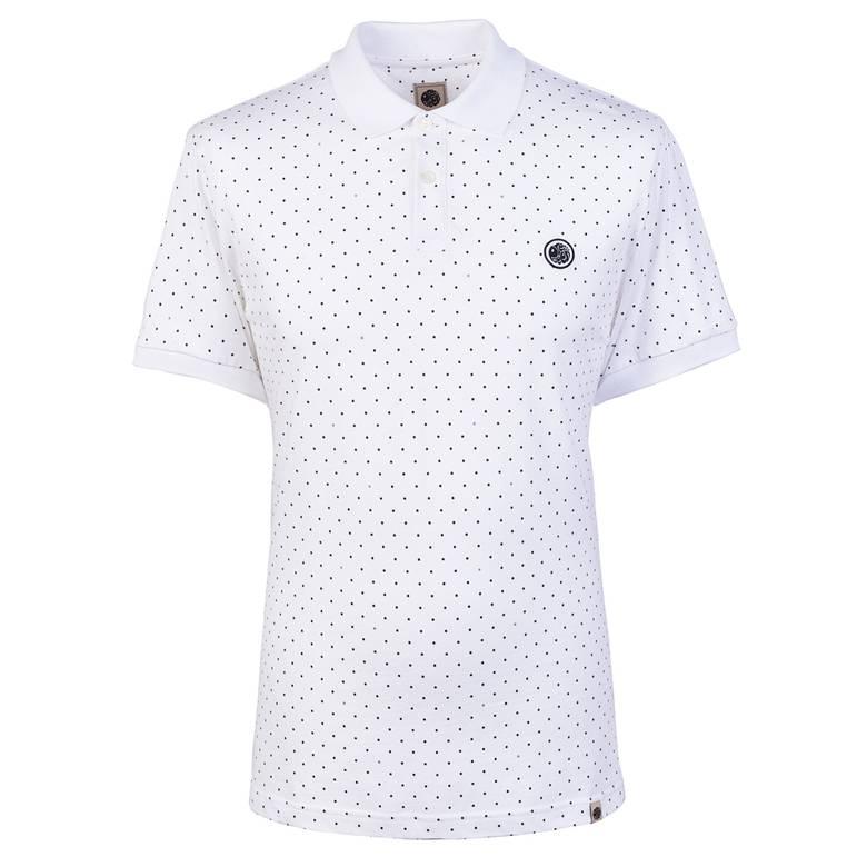 Mens Polka Dot Polo Shirt
