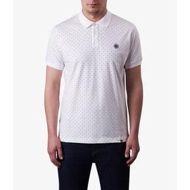 White  Polka Dot Polo Shirt