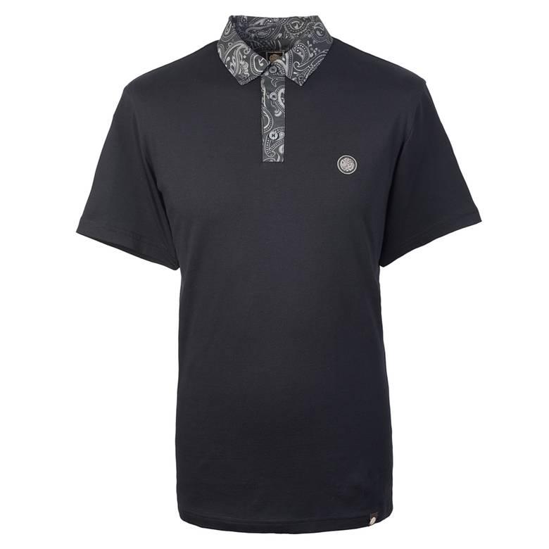 Mens Paisley Print Collar Polo Shirt