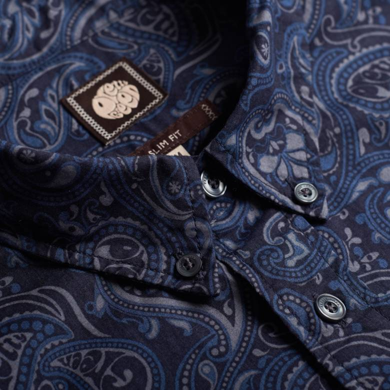 Mens Slim Fit Paisley Print Shirt