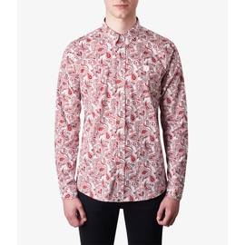 Red  Slim Fit Paisley Print Shirt