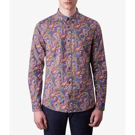 Vintage  Slim Fit Paisley Print Shirt