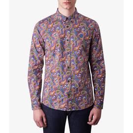 Vintage  Classic Fit Paisley Print Shirt