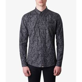 Black  Slim Fit Paisley Print Shirt