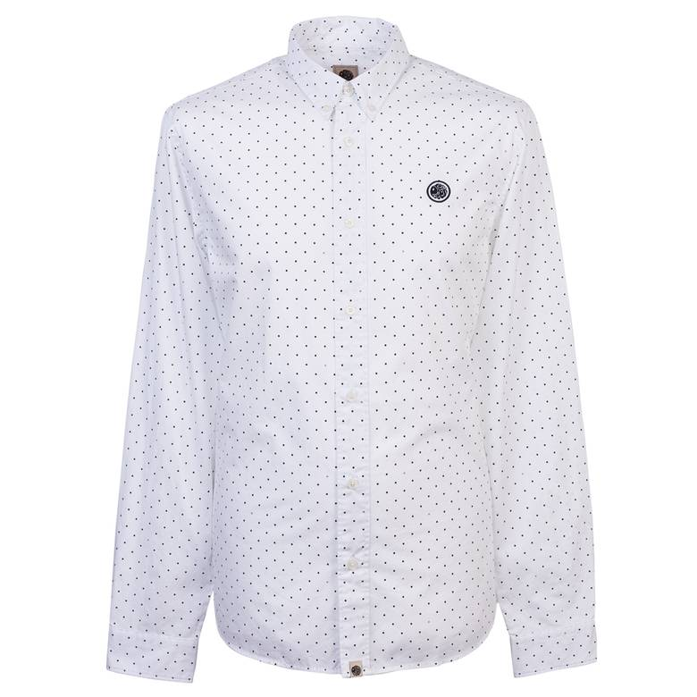Mens Slim Fit Polka Dot Shirt