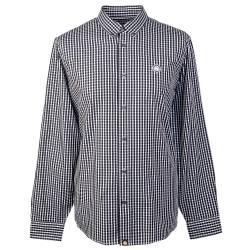 Black  Classic Fit Gingham Shirt