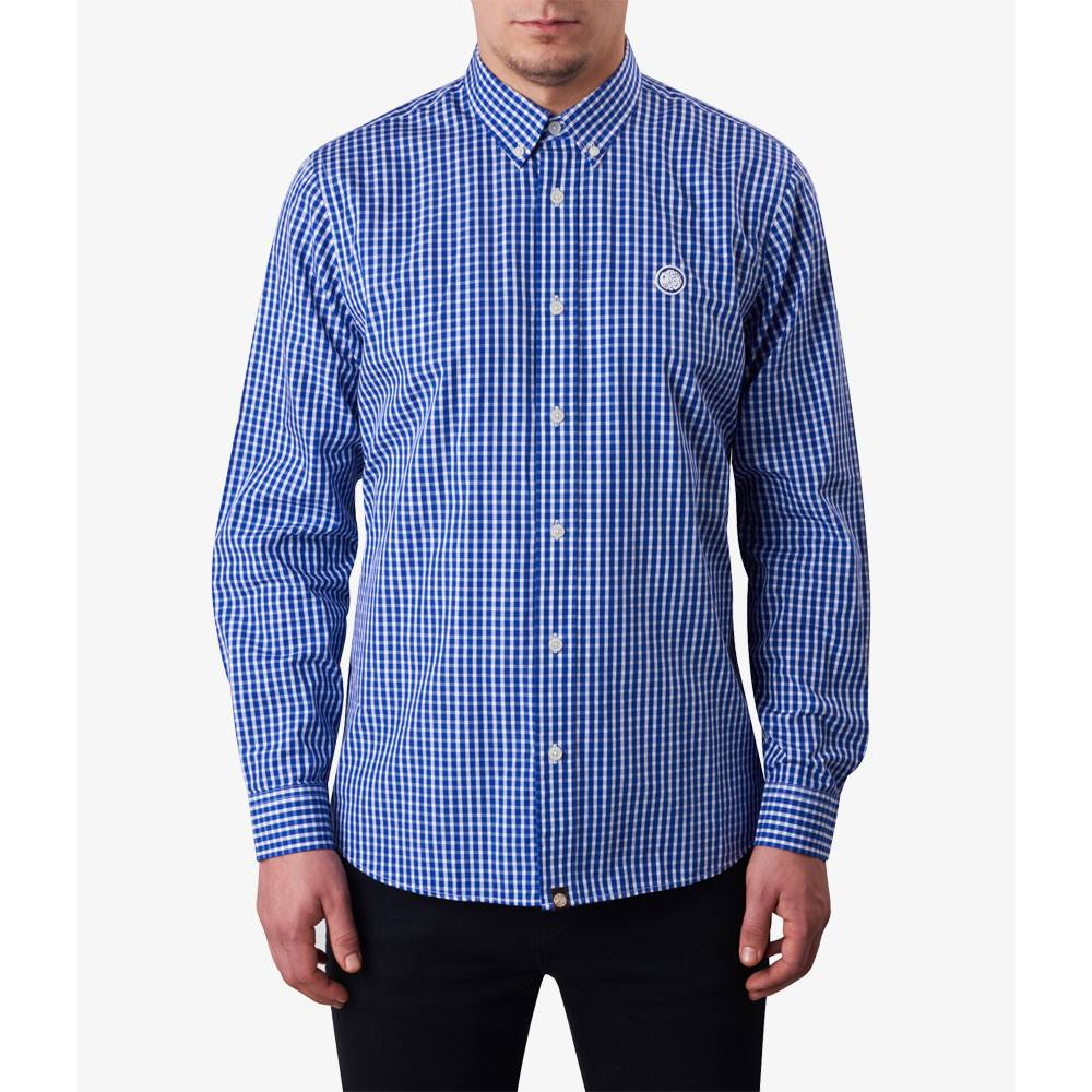 Classic fit gingham shirt pretty green online shop for Mens green gingham dress shirt