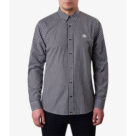 Black  Classic Fit Gingham Shirt