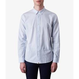Sky Blue  Classic Fit Stripe Oxford Shirt