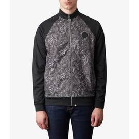 Black  Paisley Print Track Top