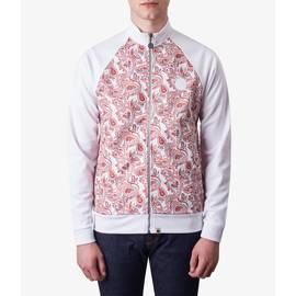 Red  Paisley Print Track Top