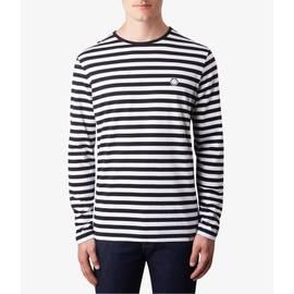 Black  Long Sleeve Striped T-Shirt