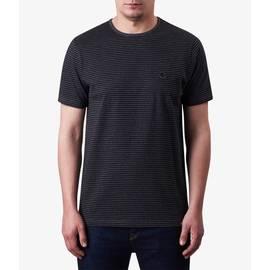 Dark Grey Marl  Striped T-Shirt