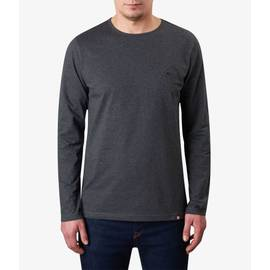 Dark Grey Marl  Long Sleeve Cotton T-Shirt