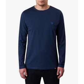Navy  Long Sleeve Cotton T-Shirt