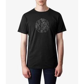 Black  Paisley Print Logo T-Shirt