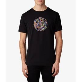Black Vintage  Paisley Print Logo T-Shirt