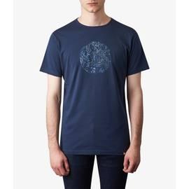 Navy  Paisley Print Logo T-Shirt