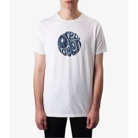 White  Paisley Print Logo T-Shirt